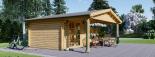 Cabaña de madera para jardín CAMILA (44 mm), 6x4 m, 24 m² visualization 5