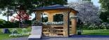 Cenador de madera 9 m² (3x3) 44 mm visualization 2