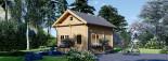 Casa de madera para jardín AVIGNON (44 mm), 20 m² de dos plantas visualization 1