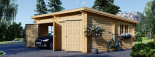 Garaje de madera de tejado plano MODERN 600x600 44 mm, 36 m² DOUBLE visualization 6