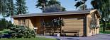 Casa de madera UZES (44 mm), 70 m² visualization 3