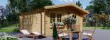 Cabaña de madera para jardín DREUX (44 mm), 5x5 m, 25 m² visualization 5