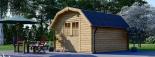 Caseta de madera ORLANDO (34 mm), 4x4 m, 16 m² visualization 3