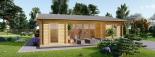 Casa de madera para jardín MILA (44 mm), 56 m² visualization 8