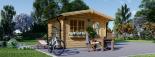 Caseta de madera para jardín DREUX (66 mm), 4x4 m, 16 m² visualization 5