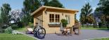 Caseta de jardín de madera DREUX con tejado plano (44 mm), 4x3 m, 12 m² visualization 5