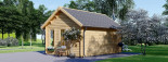 Caseta de madera CLOCKHOUSE (44 mm), 5.5x4 m, 22 m² visualization 5