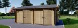 Garaje de madera DOBLE ALTERNATIVE (44 mm), 6x6 m, 36 m² visualization 4
