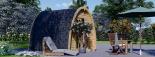 Caseta de jardín de madera BRETA (28 mm), 3x3 m, 9 m² visualization 2