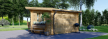 Caseta de jardin LILLE con tejado plano 12 m² (4x3) 34 mm visualization 3