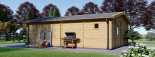 Casa de madera para jardín MARINA (44 mm), 48 m² visualization 5