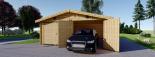 Garaje de madera 600x900 44 mm 54 m² visualization 4