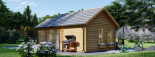 Cabaña de madera para jardín ELLA (44 mm), 28 m² visualization 5