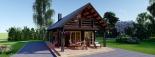 Casa de madera AURA (44+44 mm), 72 m² visualization 10