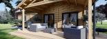 Casa de madera para vivir VERA (44+44 mm, aislada PLUS), 132 m² visualization 10
