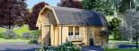 Garaje de madera MISSISSIPPI (44 mm), 5x6 m, 30 m² visualization 2
