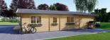 Casa de madera para vivir LINDA (44+44 mm, aislada), 78 m² visualization 6