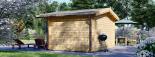 Caseta de jardín RENNES 12 m² (4x3) 34 mm visualization 4