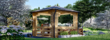 Cenador de madera 16 m² (4x4) 44 mm visualization 4