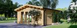 Caseta de madera MIA (44 mm), 5.5x5.5 m, 30 m² visualization 4