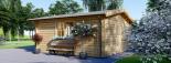 Cabaña de madera para jardín DREUX (44 mm), 5x5 m, 25 m² visualization 3