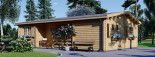 Casa de madera UZES (44 mm), 70 m² visualization 4