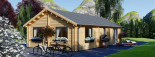 Casa de madera GRETA 44+44 mm, 54 m² visualization 7