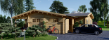 Casa de madera BERTA (66 mm), 72 m² + garaje 20 m² visualization 3