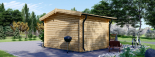 Caseta de madera para jardín DREUX (66 mm), 4x4 m, 16 m² visualization 4