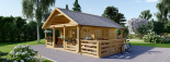 Caseta de madera habitable ANGERS (44+44 mm, aislada PLUS), 36 m² visualization 4