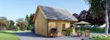 Casa de madera para jardín LIVINGTON 44 mm, 50 m² visualization 6