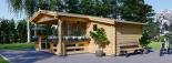 Caseta de jardín ISLA 18m² + porche (2x4) 66mm visualization 6