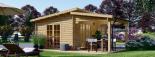 Caseta de madera HELEN (44 mm), 6x4 m, 24 m² + 12,5 m² porche visualization 7
