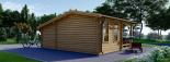 Caseta de jardín ISLA 18m² + porche (2x4) 66mm visualization 4
