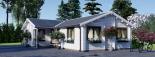 Casa de madera ADELE (44+44 mm), 68 m² visualization 7