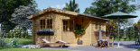 Caseta de jardín OSLO 19.5 m² 34 mm visualization 2