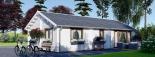 Casa de madera para vivir ANICA (44+44 mm, aislada PLUS), 71 m² visualization 8