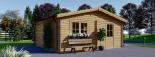 Garaje de madera DOBLE ALTERNATIVE (44 mm), 6x6 m, 36 m² visualization 7