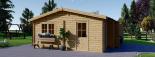 Garaje de madera DOBLE ALTERNATIVE (44 mm), 6x6 m, 36 m² visualization 6