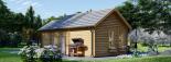 Cabaña de madera para jardín ELLA (66 mm), 28 m² visualization 5