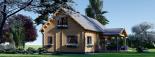Casa de madera para vivir VERA (44+44 mm, aislada PLUS), 132 m² visualization 4