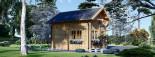 Casa de madera para jardín AVIGNON (44 mm), 20 m² de dos plantas visualization 4