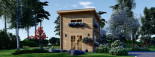 Casa de jardín AVIGNON de tejado plano (44 mm), 20 m² de dos plantas visualization 2