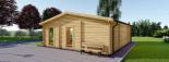 Casa de madera para jardín MILA (44 mm), 56 m² visualization 4