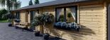 Casa de madera GRETA 44+44 mm, 54 m² visualization 9