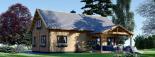 Casa de madera para vivir VERA (44+44 mm, aislada PLUS), 132 m² visualization 3