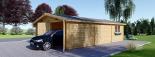 Garaje de madera 600x900 44 mm 54 m² visualization 5