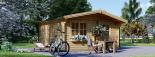Caseta de jardín DREUX 20 m² (5x4) 66 mm visualization 5