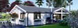 Casa de madera ADELE (44+44 mm), 68 m² visualization 8
