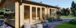 Casa de madera para jardín MARINA (44 mm), 48 m² visualization 8
